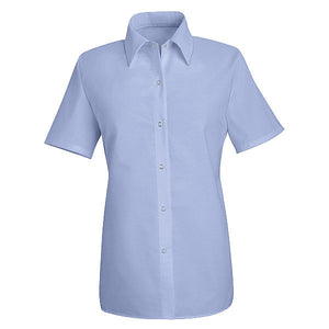 Red Kap Women's Short Sleeve Specialized Pocketless Work Shirt - SP25