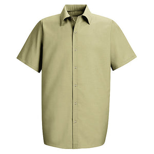 Red Kap Men's Short Sleeve Specialized Pocketless Work Shirt - SP26