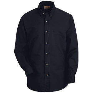 Red Kap Men's Long Sleeve Button-Down Poplin Shirt - SP90