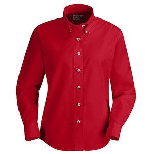 Red Kap Ladies Long Sleeve Button-Down Poplin Shirt - SP91