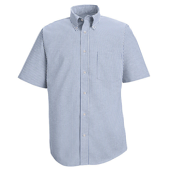 Red Kap Men's Executive Striped Button-Down Shirt - Short Sleeve - SR60