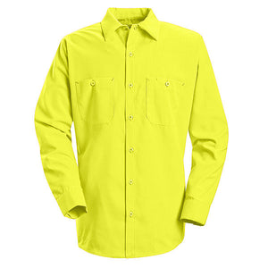 Red Kap Long Sleeve Enhanced Visibility Work Shirt - SS14