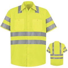 Red Kap Short Sleeve Hi-Vis Work Shirt: Class 3 Level 2 - SS24