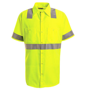 Red Kap Short Sleeve Hi-Vis Work Shirt: Class 2 Level 2 - SS24