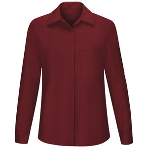 Red Kap Women Performance Plus Shop Shirt with OIL BLOK Tech Long Sleeve - SY31