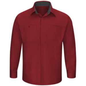 Red Kap Men's Performance Plus Shop Shirt with OilBlok Technology LS (SY32)