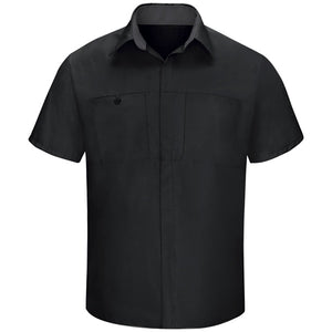 Red Kap Men's Performance Plus Shop Shirt with OilBlok Technology Short Sleeve SY42
