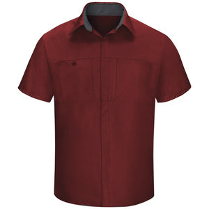Red Kap Men's Performance Plus Shop Shirt with OilBlok Technology Short Sleeve SY42 (2nd color)
