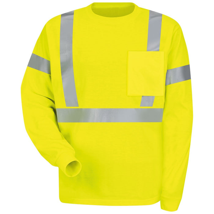 Red Kap Workwear Long Sleeve Hi-Visibility T-Shirt - SYK2