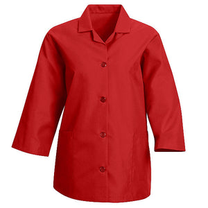 Red Kap Women's Loose Fit Button Smock - 3/4 Sleeve - TP31
