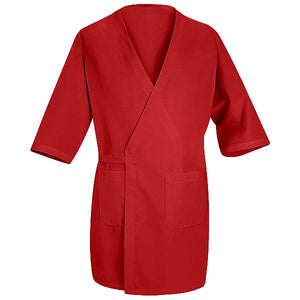 Red Kap Collarless Butcher Wrap - 3/4 Sleeve and Pockets - WP10