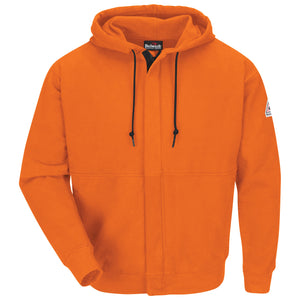 Bulwark Zip-Front Hooded Sweatshirt - Cotton/Spandex Blend - Cat 2 - (SEH4)