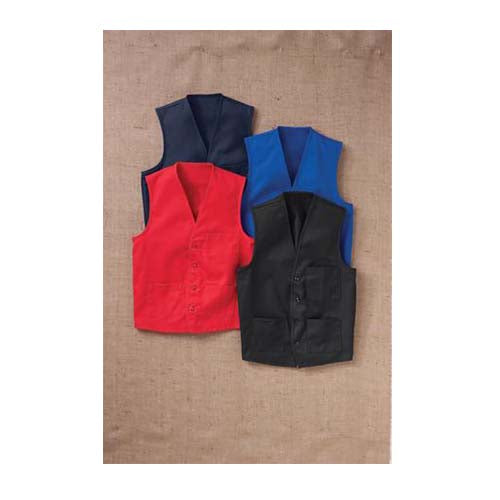 Red Kap Button-Front Vest - 1360