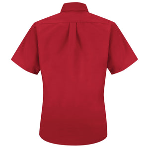 Red Kap Ladies Short Sleeve Button-Down Poplin Shirt - SP81