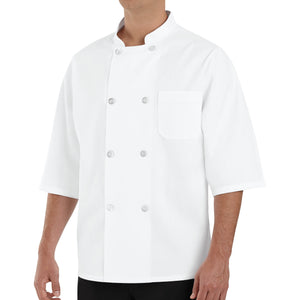 Red Kap 1/2-Sleeve Chef Coat - 0404WH