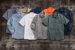 Red Kap Short Sleeve Wrinkle-Resistant Cotton Work Shirt - SC40