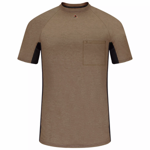 Bulwark Short Sleeve Fr Two-Tone Base Layer With Concealed Chest Pocket - (MPS4KH)
