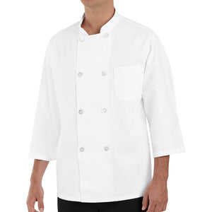 Red Kap 3/4-Sleeve Chef Coat - 0402WH