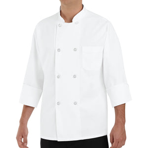 Red Kap Eight Pearl-Button Chef Coat - 0403WH