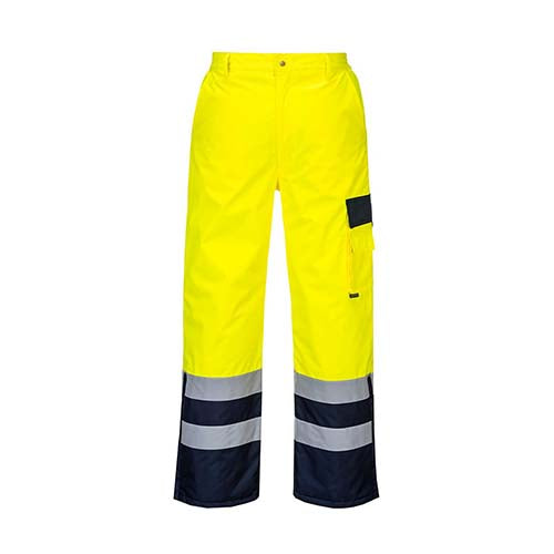 Portwest Hi-Vis Contrast Pants - Lined (S686)
