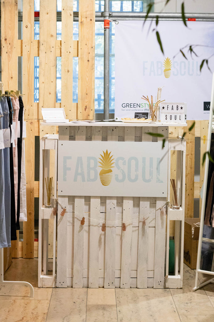 FABSOUL booth natural leggings at Greentyle MUC