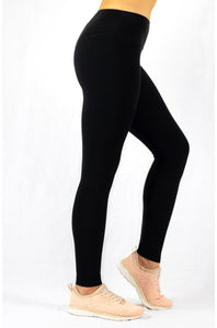 high-rise black natural yoga leggings from the side