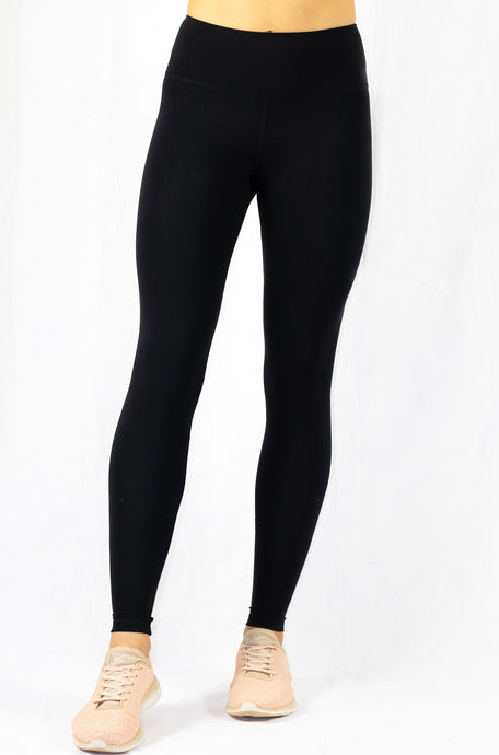 high-rise black natural yoga leggings front view