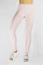 Load image into Gallery viewer, Running Leggings in Blush with side and back pocket front view