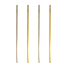 Load image into Gallery viewer, Gold Stainless Steel Straw Straight 4 Pack