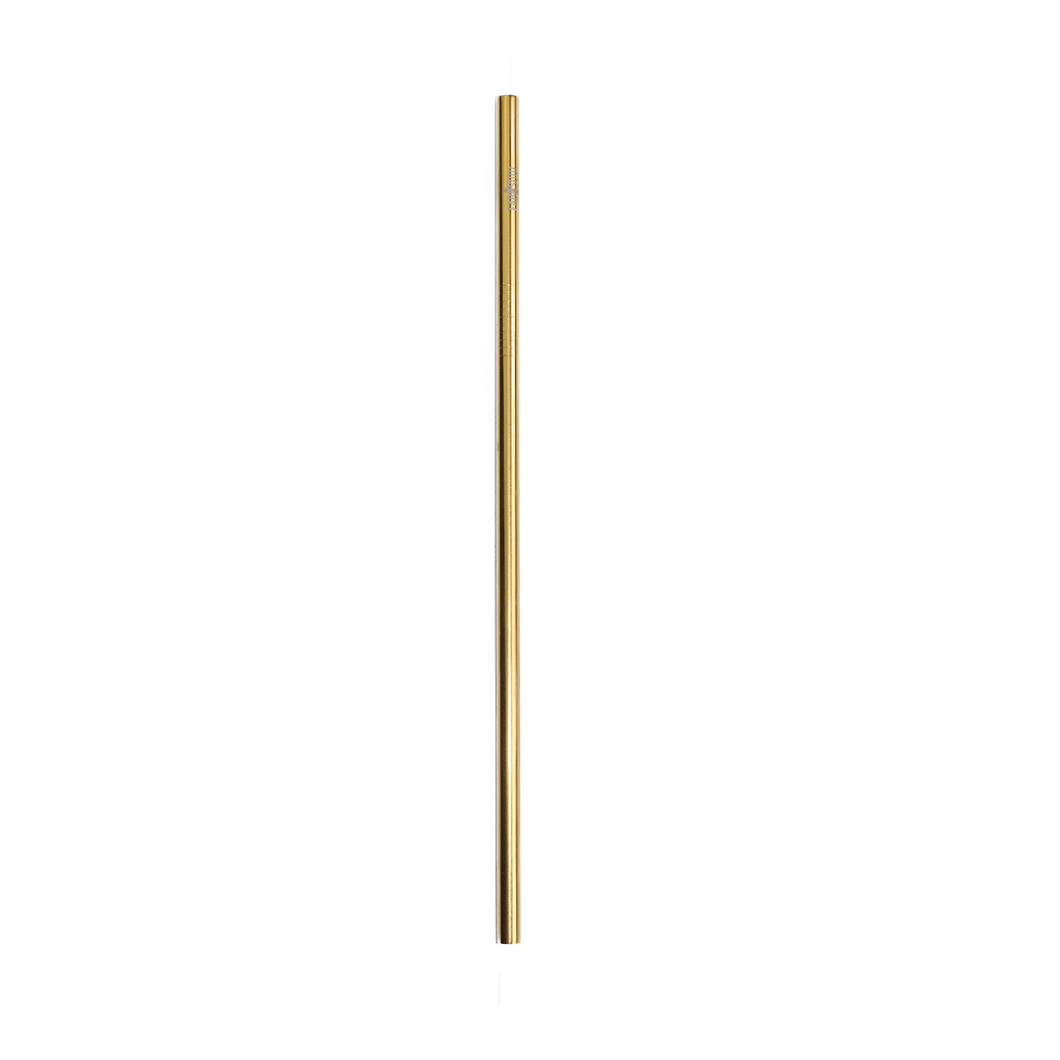 Straight gold stainless steel straw reusable straw no plastic ecoriendly Edelstahl Strohhalm