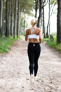 Cotton Candy Running Legging in Black
