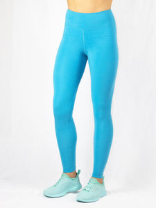 high-rise yoga legging in turqoise