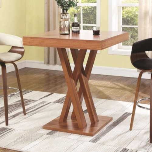 Modern Square Wooden Bar Table, Brown