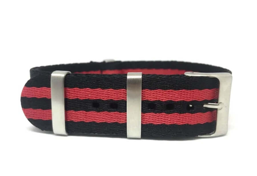 red striped seat belt nato strap