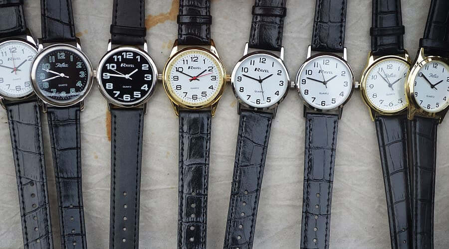 old fashioned leather strap watches