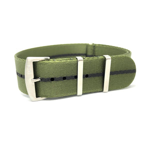 Premium Woven NATO Watch Strap - Military Green Fashion - Nato Strap Store