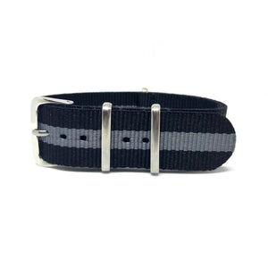 NATO Strap - Black & Grey Single - Nato Strap Store