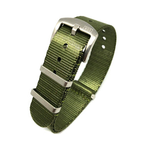 Premium Thick Woven NATO Watch Strap - Military Green - Nato Strap Store