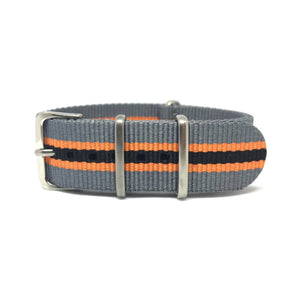NATO Strap - Grey, Orange & Black - Nato Strap Store