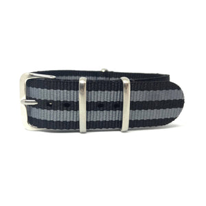 NATO Strap - Bond Collection - Black & Grey - Nato Strap Store