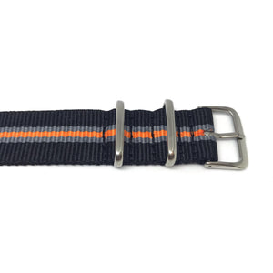 NATO Strap - Black, Grey & Orange - Nato Strap Store
