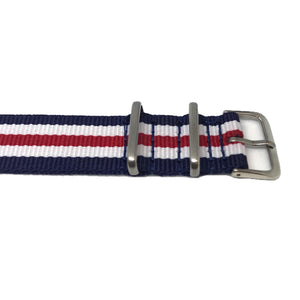 NATO Strap - Limited Edition - Blue, White, Red - Nato Strap Store