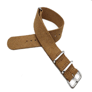 Leather NATO Strap - Beige