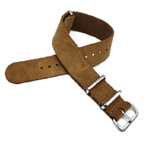 Leather NATO Strap - Brown