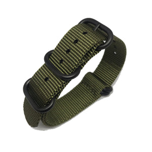 Zulu NATO Strap - Military Green - Black Buckle