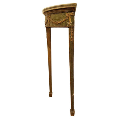 LOUIS XVI DEMILUNE SIDE TABLE - 18TH CENTURY