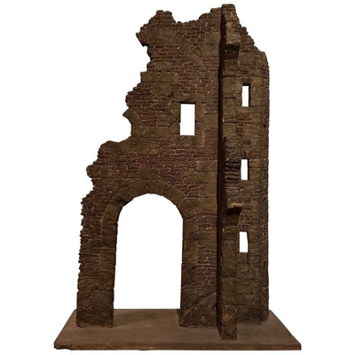 Georgian Style  Miniature Wood Model of Ruins 1870