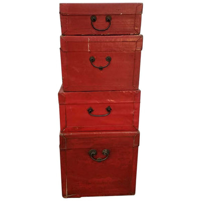 CHINESE LACQUERED TRUNKS