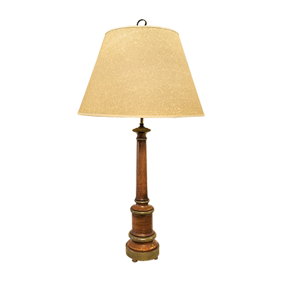NEOCLASSICAL STYLE TURNED COLUMN LAMP
