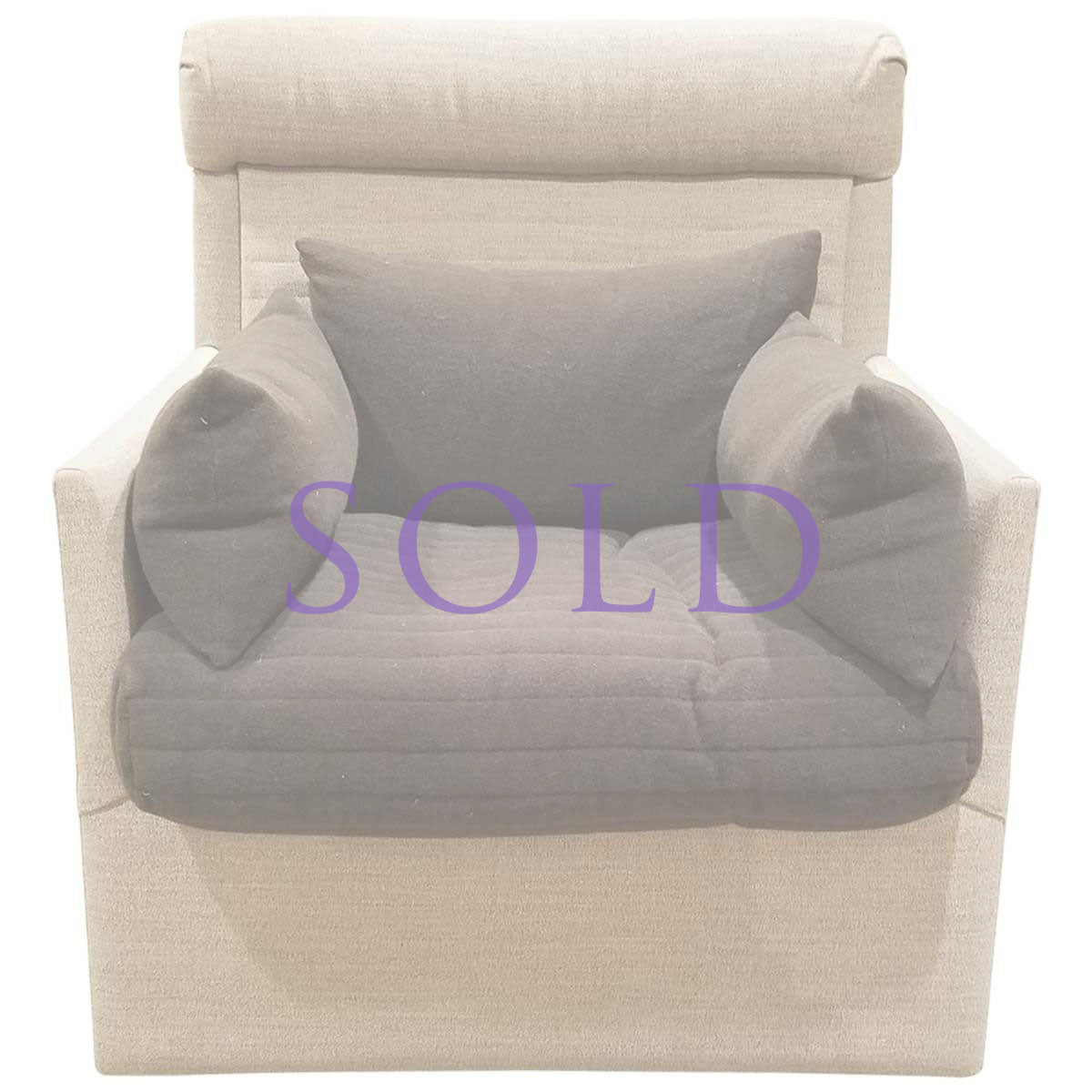 High Back Lounge Chair - Showroom Sample